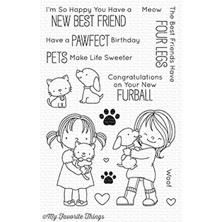 Happymade - My Favorite Things clear stamp set - New Best Friend (BB-52)